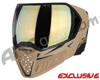 Empire EVS Paintball Mask w/ Additional Lens - Tan/Black w/ HD Gold Lens