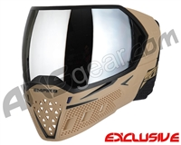 Empire EVS Paintball Mask w/ Additional Lens - Tan/Black w/ Silver Mirror Lens