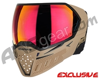 Empire EVS Paintball Mask w/ Additional Lens - Tan/Black w/ Sunset Lens