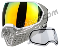 Empire EVS Paintball Mask w/ Additional Lens - White/Grey w/ Fire Lens