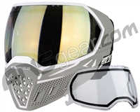 Empire EVS Paintball Mask w/ Additional Lens - White/Grey w/ HD Gold Lens
