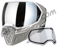Empire EVS Paintball Mask w/ Additional Lens - White/Grey w/ Silver Mirror Lens