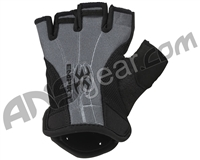 Empire Soft Back Fingerless Paintball Gloves - Black/Grey