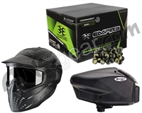 Empire Halo Too, JT Premise Headshield & Empire Marballizer 2,000 Round Paintball Case Bundle