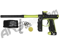Empire Mini GS Paintball Gun w/ 2 Piece Barrel - Dust Black/Neon Green