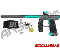 Empire Mini GS Paintball Gun w/ 2 Piece Barrel - Dust Dark Grey/Teal