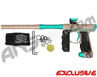 Empire Mini GS Paintball Gun w/ 2 Piece Barrel - Dust Tan/Teal
