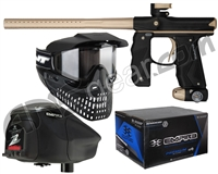 Empire Mini GS Gun, JT ProFlex Mask & Empire Z2 Loader w/ FREE 500 Rounds Of Premium Paint - Black/Gold