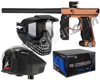 Empire Mini GS Gun, JT ProFlex Mask & Empire Z2 Loader w/ FREE 500 Rounds Of Premium Paint - Brown/Black