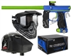 Empire Mini GS Gun, JT ProFlex Mask & Empire Z2 Loader w/ FREE 500 Rounds Of Premium Paint - Dust Blue/Dust Green