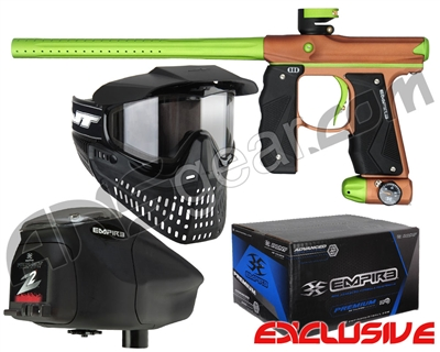 Empire Mini GS Gun, JT ProFlex Mask & Empire Z2 Loader w/ FREE 500 Rounds Of Premium Paint - Pistachio