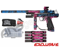 Empire Resurrection Autococker Paintball Gun - Polished Acid Wash Blue w/ Pink Accents