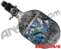 Empire Mega Lite 48/4500 Compressed Air Paintball Tank - Joker (Arctic/Grey)
