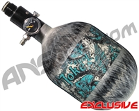 Empire Mega Lite 48/4500 Compressed Air Paintball Tank - Joker (Teal/Grey)