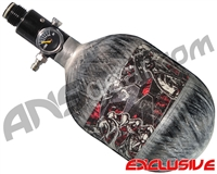 Empire Mega Lite 48/4500 Compressed Air Paintball Tank - Nightmare (Bloody/Grey)