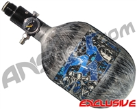 Empire Mega Lite 48/4500 Compressed Air Paintball Tank - Nightmare (Electric/Grey)