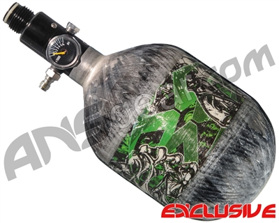 Empire Mega Lite 48/4500 Compressed Air Paintball Tank - Nightmare (Lime/Grey)