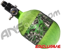 Empire Mega Lite 48/4500 Compressed Air Paintball Tank - Nightmare (Lime/Lime)