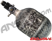 Empire Mega Lite 48/4500 Compressed Air Paintball Tank - Nightmare (Negative/Grey)