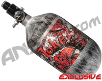 Empire Mega Lite 68/4500 Compressed Air Paintball Tank - Joker (Red/Grey)