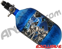 Empire Mega Lite 68/4500 Compressed Air Paintball Tank - Nightmare (Electric/Blue)