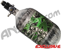 Empire Mega Lite 68/4500 Compressed Air Paintball Tank - Nightmare (Lime/Grey)