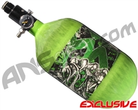 Empire Mega Lite 68/4500 Compressed Air Paintball Tank - Nightmare (Lime/Lime)