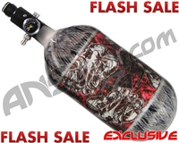 Empire Mega Lite 80/4500 Compressed Air Paintball Tank - Nightmare (Bloody/Grey)