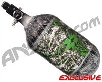 Empire Mega Lite 80/4500 Compressed Air Paintball Tank - Nightmare (Lime/Grey)