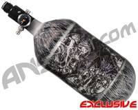 Empire Mega Lite 80/4500 Compressed Air Paintball Tank - Nightmare (Negative/Grey)