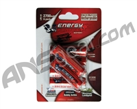 Energy Paintball AA 2700mAh Rechargeable Battery - 6 Pack