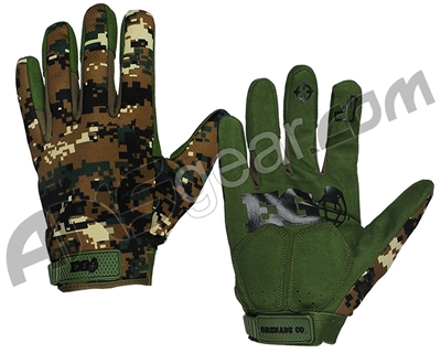Enola Gaye FU Paintball Gloves - Woodland Digi