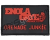 Enola Gaye Grenade Junkie Rubber Patch - Black