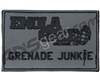 Enola Gaye Grenade Junkie Rubber Patch - Grey