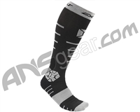 Exalt Compression Paintball Socks - Black/Grey
