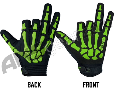 Exalt Death Grip Paintball Gloves - Lime