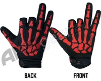 Exalt Death Grip Paintball Gloves - Red