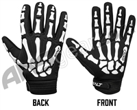 Exalt Death Grip Full Finger Paintball Gloves - White