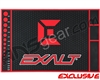 Exalt HD Rubber Paintball Tech Mat - Black/Red