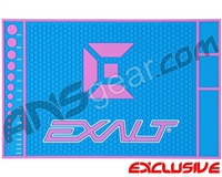 Exalt HD Rubber Paintball Tech Mat - Blue/Pink
