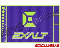 Exalt HD Rubber Paintball Tech Mat - Purple/Lime