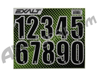Exalt Loader Number Sticker Sheet - Black