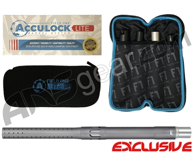 Field One Acculock Lite Barrel Kit - Autococker Threaded - Gun Metal Grey