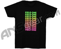 Field One Repeat T-Shirt - Black