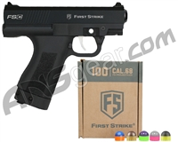 First Strike Compact FSC Paintball Pistol w/ 100 First Strike Rounds FREE - Black