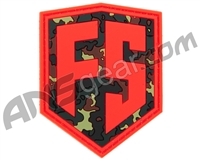 First Strike Rubber Velcro Patch - Shield - Orange