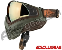 First Strike Push Unite Mask - Olive/Brown w/ Chrome Gold Lens
