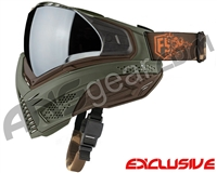 First Strike Push Unite Mask - Olive/Brown w/ Chrome Silver Lens