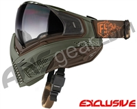 First Strike Push Unite Mask - Olive/Brown w/ Gradient Clear Lens