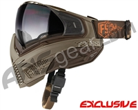 First Strike Push Unite Mask - Tan/Brown w/ Gradient Clear Lens
